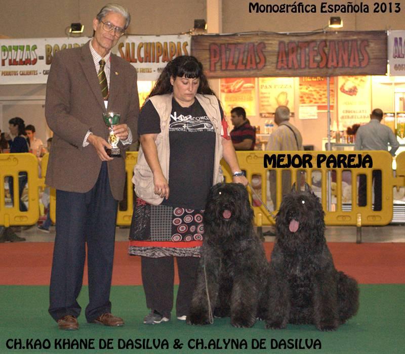 Monográfica  Española 2013, Alyna I de Dasilva y su hijo Kao Khane de Dasilva fueron Mejor Pareja de la Monográfica.